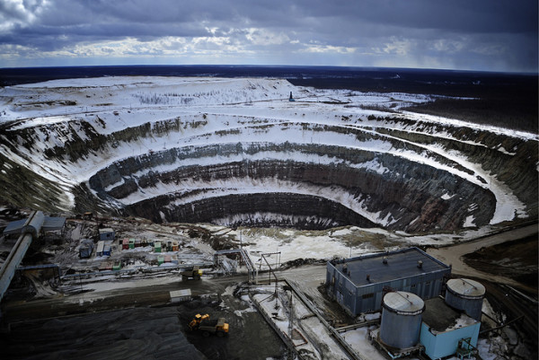 Diamond production at ALROSA's Mirny Mining and Processing Division in Sakha Republic, Russia